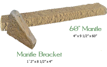 Stone Accessories - Mantels and Mantel Brackets